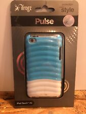 iFROGZ Case for Ipod Touch 4G Glossy Gray White Pulse Ridged Hard Plastic New
