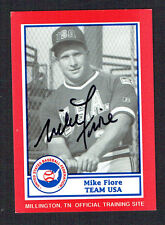 Mike Fiore #6 signed autograph auto 1990 US Federation Team USA Card