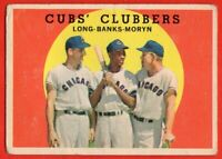 1959 Topps #147 Ernie Banks GOOD+ CREASE Chicago Cubs HOF FREE SHIPPING