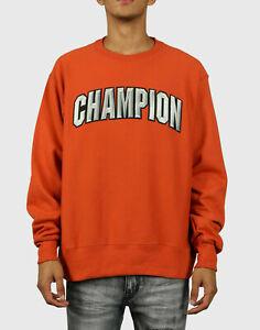 Champion REVERSE WEAVE FLEECE PULLOVER SWEATSHIRT BRUNT ORANGE GF70-Y07987-029