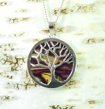 Heather Tree of Life Pendant Handmade & Silver Plated Necklace  HG-13B