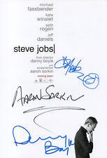 AARON SORKIN, DANNY BOYLE + 1 - Signed 12x8 Photograph - FILM - STEVE JOBS
