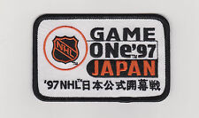 NHL GAME ONE PATCH IN JAPAN 1997 VANCOUVER CANUCKS Vs. MIGHTY DUCKS OF ANAHEIM