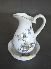 Miniature Jug & Coaster - Matching Floral Pattern