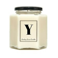 Letter Y Alphabet Scented Candle