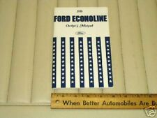 1976 Ford ECONOLINE Owner's Instruction Manual