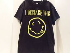 VINTAGE I DECLARE WAR (ANTI SMILEY FACE) TOUR SHIRT(LARGE)DEATH METAL-VERY RARE