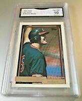 JIM THOME ROOKIE CARD (HOF) 1992 Topps GOLD WINNER #768 GMA Graded 10 Gem Mint