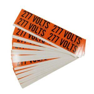 Brady 44212 Conduit and Voltage Markers 277 Volts Black/Orange (Box of 88)