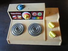 Fisher Price Fun with Food Magic Burner Stove kitchen part bell warmer toy lot