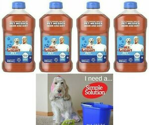 4 PK Mr. Clean Multi-Surface Pet Cleaner Odor Dirt Febreze Odor Defense 45 oz