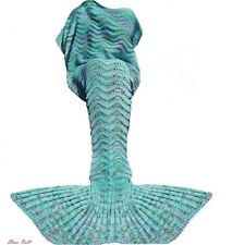 Mermaid Tail Blanket For Girls Cotton Crochet Adult Birthday Wedding Christmas
