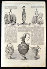 LOAN COLLECTION 1863 Venetian French Glass Murat Sword Hilt VICTORIAN ENGRAVING