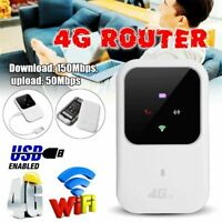 Portable 4G Router Wireless Broadband Wifi Hotspot SIM Card Slot USB LTE Mobile