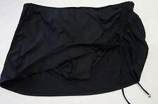 COLE OF CALIFORNIA Shirred Skirt Bikini Bottoms (Plus Size) Black 1X-$54