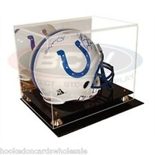 1 BCW Deluxe Full Size Football Helmet Display Case Holder With Mirror ad03