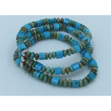 Triple Stack 925 Sterling Silver Green Turquoise Blue Turquoise Stretch Bracelet