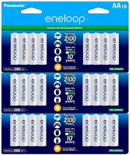 3 Pk =48 Batteries Panasonic Eneloop AA NiMH Rechargeable Battery HR6 2100 Cycle