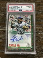 2019 Topps Holiday Fernando Tatis Jr Autograph Psa 9 Mint Rookie Card Auto #/40