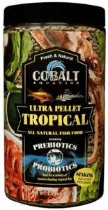 23oz Cobalt Ultra Tropical Grazer Micro Wafer, FREE 12-Type Pellet Mix Included