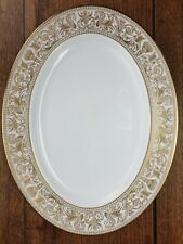 Large Wedgwood Gold Florentine Oval Serving Plate W4219