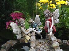 Miniature Fairy Garden Climbing Fairies set of 3 Gnome Hobbit  Dollhouse 57