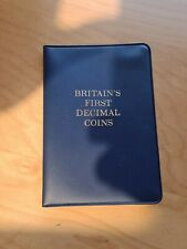 Britain's First Decimal Coin Set Wallet 1968 - 1971 (5 coins)