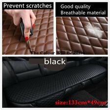 Black PU Leather Anti-Scracth Non-slip Pad Car Back Row Seat Breathable Cushion