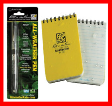RITE IN THE RAIN All Weather Wet Spiral Notebook Paper & Ball Point Pen Set! NEW