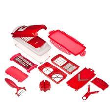 Affettaverdure da cucina manuale con 13 accessori rosso SUPER SLICE