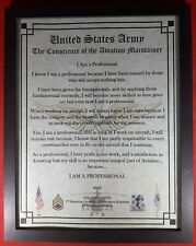 Mc-Nice: Army Aviation Maintainer Framed Personalized