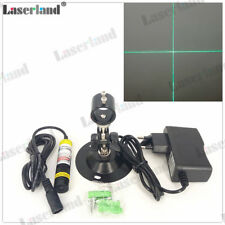 510nm 10mW Cross Hair Green Laser Module Diode for Wood Fabric Cutting 12VDC