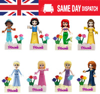 Princess lego Figure Building Block Mermaid Cinderella Fits Lego - 8Pcs