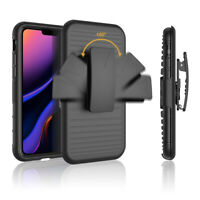 Holster Armor Rugged Stand Belt Clip Shockproof Case Cover For iPhone 11 Pro Max