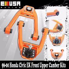 Front Upper Camber Kit for 96-00 Honda Civic ORANGE EK CX DX EX GX HX LX Si