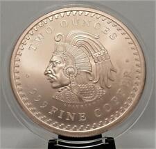 Aztec Calendar / Cuauhtemoc Design  2 oz .999 Fine Copper *IN NEW CAPSULE B 4
