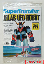 ATLAS UFO ROBOT GOLDRAKE Supertranfer 8 TRASFERELLI Edierre 1978 GOLDORAK nuovi