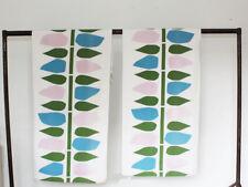 Vintage 1960s Heals Fabric - Pair of curtain - Retro Print