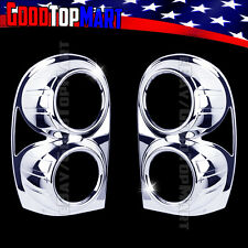 For Jeep LIBERTY 2002 2003 2004 2005 2006 Chrome Tail Light Taillight Covers 2PC