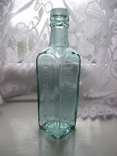 SUPERB AQUA SYMINGTON EDINBURGH  CHEMIST MEDICINE CURE VINTAGE ANTIQUE BOTTLE