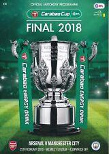 CARABAO LEAGUE CUP FINAL 2018 Manchester City v Arsenal