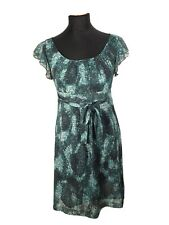 Orsay Damen Kleid Gr S M 36 38 Grün Locker Luftig Sommer Ärmellos Reißverschluss