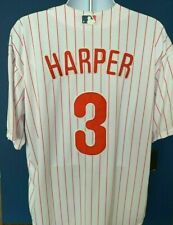 Bryce Harper Philadelphia Phillies Home White w/ Pinstripes Jersey NEW w/Tags XL