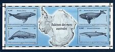 TAAF FSAT French Antarctic 2011 Cartes Maps Whales Sheet  MNH ** SUP
