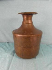 Vase Antik Kupfer Schwer Kunstschmiede Schirmständer 3,5 kg Design 1920 o14d2