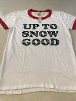 "Victoria's Secret Pink Christmas Holiday ""Up To Snow Good"" Tee Shirt Top L NWT"