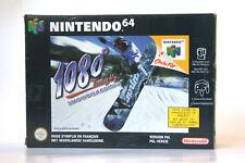 1080° SNOWBOARDING sur Nintendo 64 (N64) PAL, COMPLET avec boîte et notice