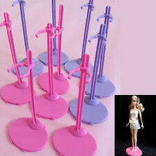 ACOZ Plastic Pink Hangers Stand for Barbie Doll Dress Clothes Accessories