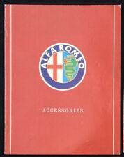 Alfa Romeo Accessories Catalog 1988 Magazine Facts, Specifications, Photographs