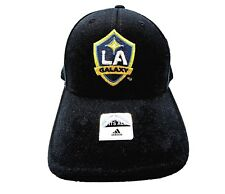 17ec107e986a0 New Adidas Los Angeles LA Galaxy Stretch Soccer MLS Mens Cap Black Hat One  Size